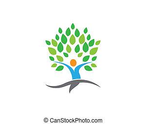 La ilustración del símbolo de la hoja verde