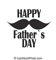 La ilustración del vector de la tarjeta del día del feliz padre