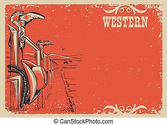 La ilustración del vector de vida de Cowboy para el texto
