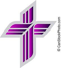 La ilustración del vector luterano púrpura en un fondo blanco