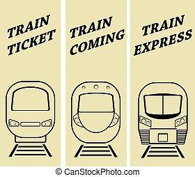 La ilustración del vector silueta del tren moderno