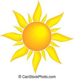 La ilustración del vector solar