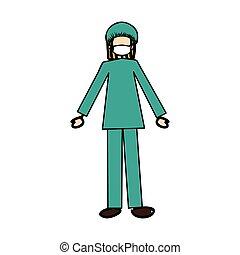 La imagen de icono de un médico