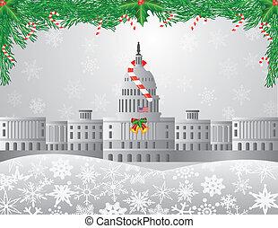 La imagen de la escena de Navidad de Washington DC