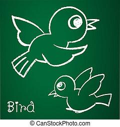 La imagen de un pájaro