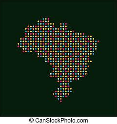 La imagen del logotipo del color de Brasil