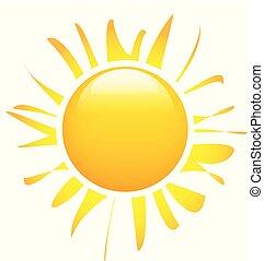 La imagen solar con rayos abstractos