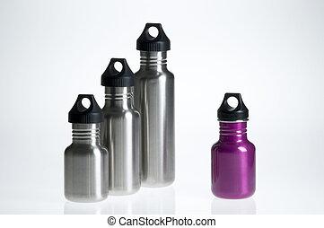 La individualidad de la botella de agua