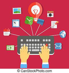 La industria digital de los medios. Un concepto de diseño plano