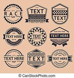 La insignia de la carrera, estilo antiguo