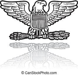 La insignia del águila militar