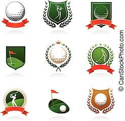 La insignia del golf