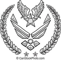 La insignia militar de la Fuerza Aérea de los EE.UU