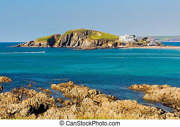 La isla Burgh al sur de Devon Inglaterra