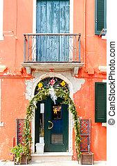 La isla de Burano. Italia.