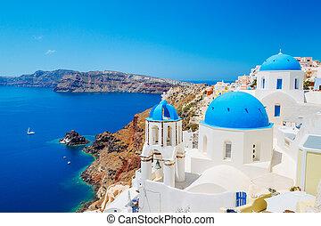 La isla de Santorini, Grecia