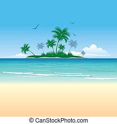 La isla tropical