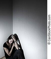 La joven sufre de una depresión severa (muy dura la vida