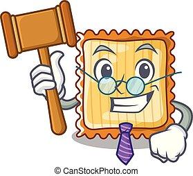 La lasaña del juez se sirve en las placas de dibujos
