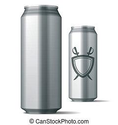 La lata de bebidas