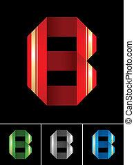 La letra ABC de la letra B de papel de colores
