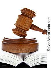 La ley dio en un libro de leyes sobre blanco