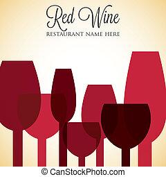 La lista de vinos rojas cubre el formato vectorial.
