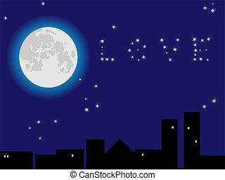 La luna en el cielo