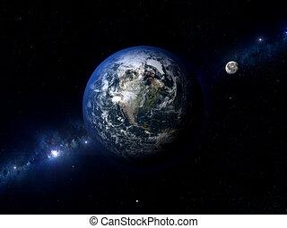 La luna terrestre norte América