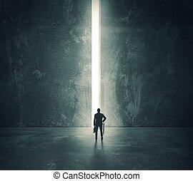 La luz de la puerta abierta
