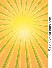 La luz del sol estalló