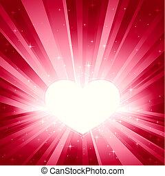 La luz rosa reventó de corazón