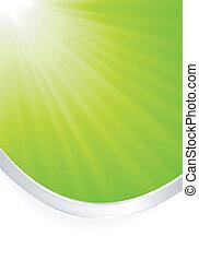 La luz verde abstracta estalló de sil