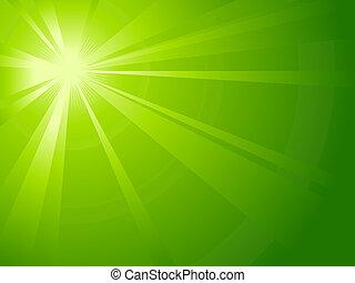 La luz verde asimétrica estalla