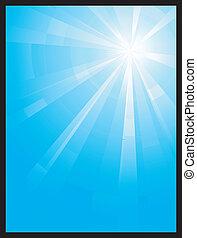 La luz vertical vertical azul estalla