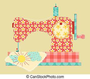 La máquina de coser.