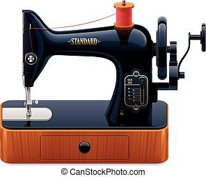 La máquina de coser del vector retro