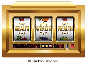 La máquina de eslotes de la riqueza
