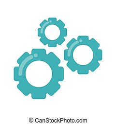 La máquina de pinones de engranajes aisló icono