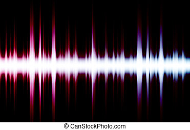 La música de sonido ecualizador late