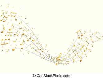 La música dorada anota el fondo