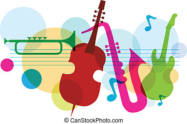 La música se templa con notas, guitarra y saxofón