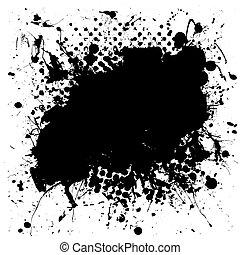 La mancha de tinta moteada