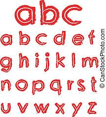 La mano dibujaba letras pequeñas