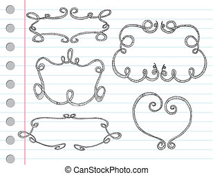 La mano dibujaba marcos ornamentales