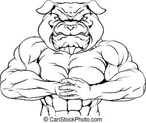 La mascota Bulldog