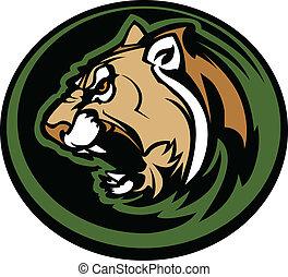 La mascota de Cougar es muy gráfica