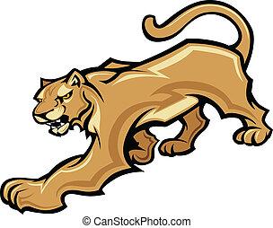La mascota de Cougar vector gráfico
