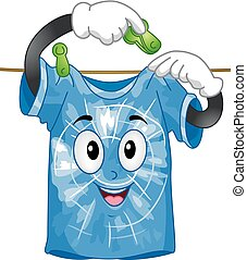 La mascota de la camisa teñida cuelga ilustración