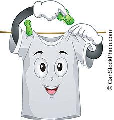 La mascota de la camiseta